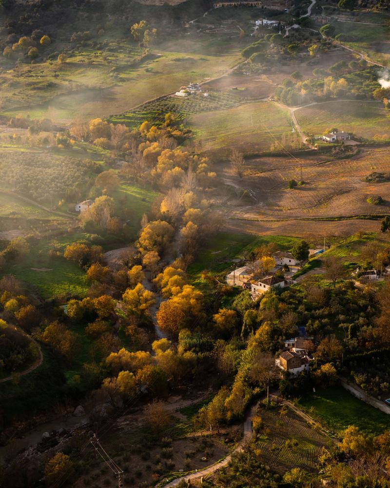 The mist in the valley by Matthijs Bettman