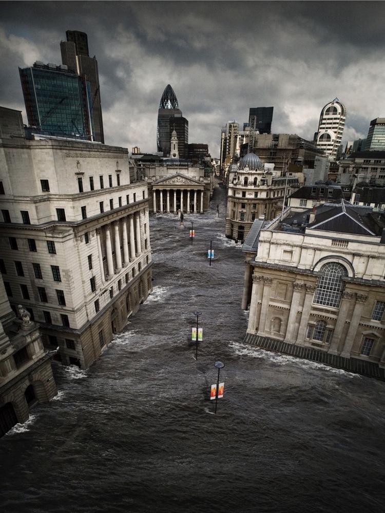 Bank Flood by Digby Oldridge