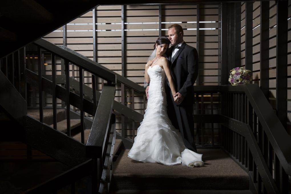 Michelle & Troy - Wedding Portrait  by Aaron Brown