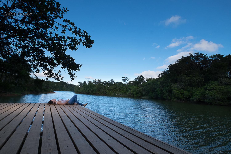 Dock by the lake by Edwin Martinez
