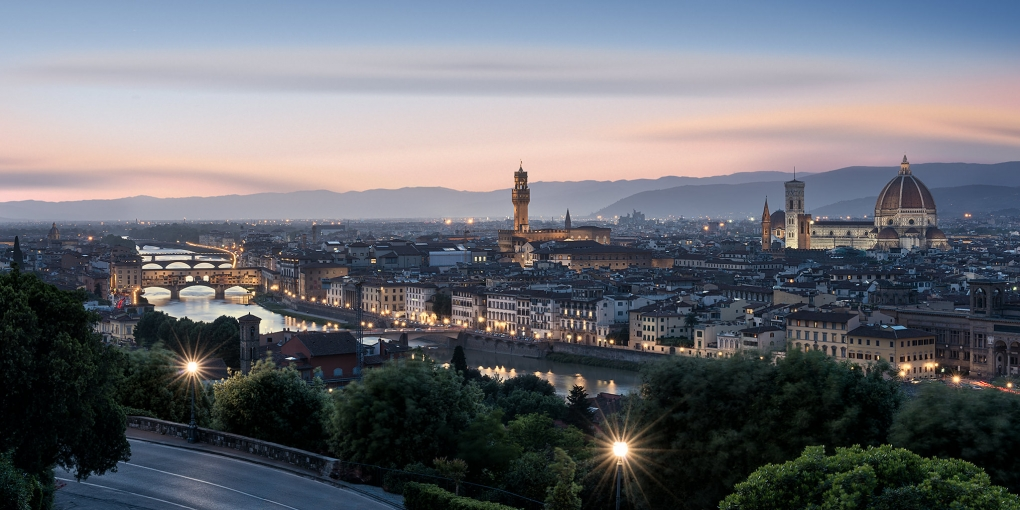 Sunset in Florence by Michael Woloszynowicz