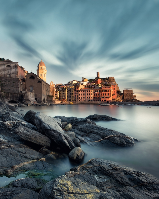Vernazza on the Rocks by Michael Woloszynowicz