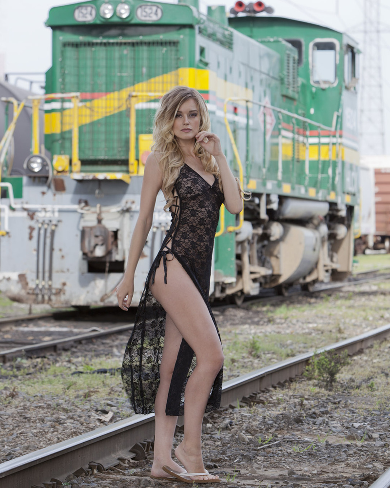 Olivia Preston on the tracks by Eric Grapher