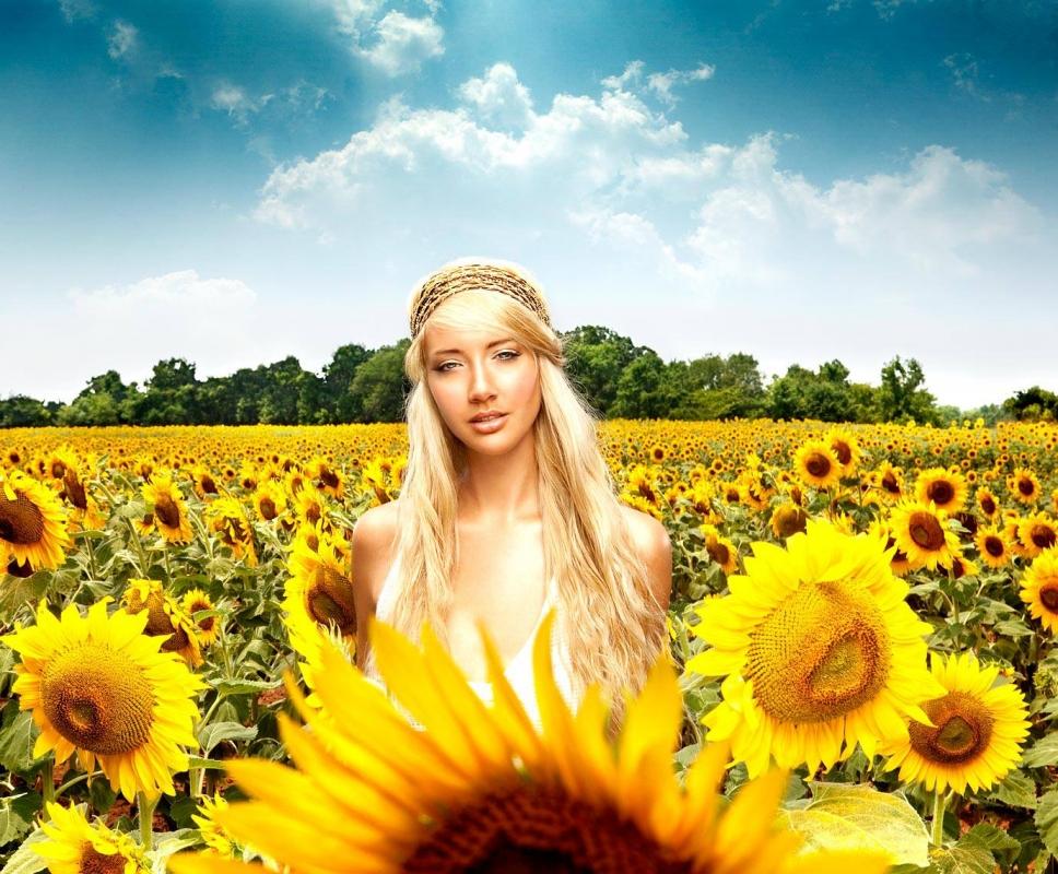Sunflower Girl by Douglas Sonders