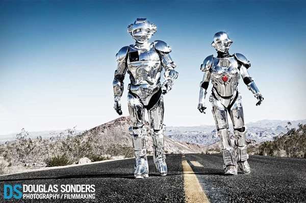 Robots in the Nevada Desert by Douglas Sonders