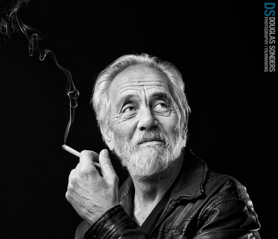 Tommy Chong in Amsterdam by Douglas Sonders
