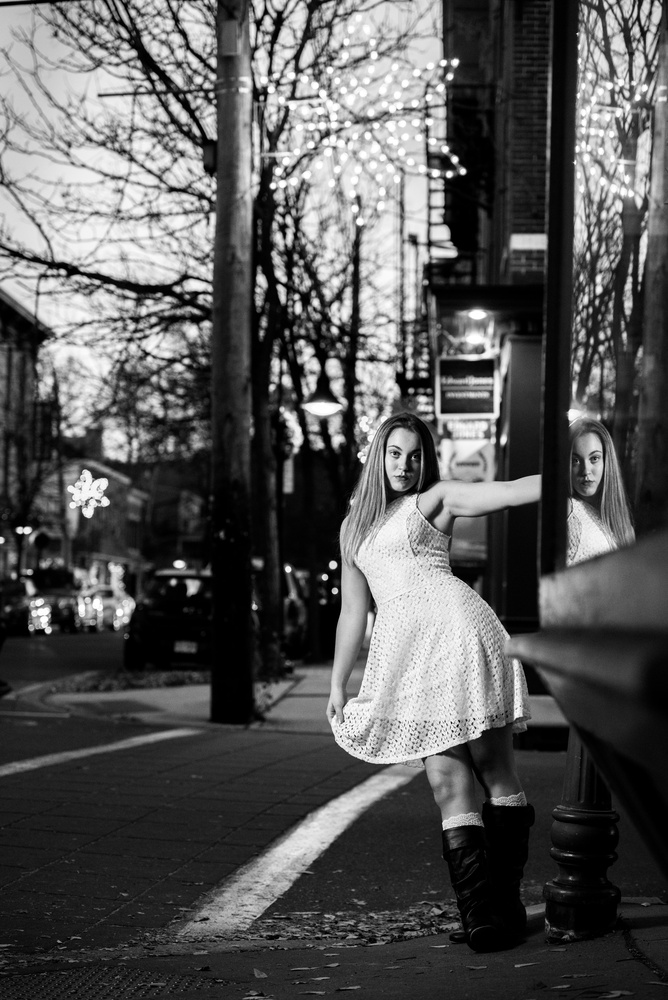 Black&White at Blue Hour in Lambertville NJ by James Fairfield