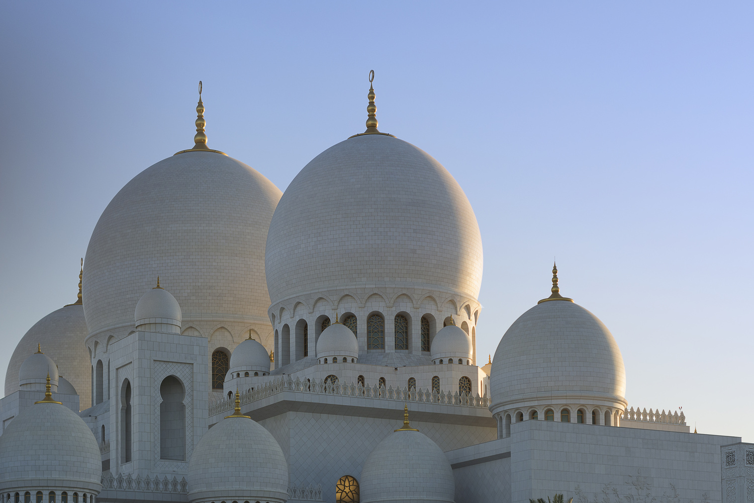 Sheikh Zayed Grand Mosque at Sunset 2 by David Evans
