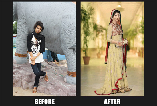Before and After Work by Hussain Ahmed