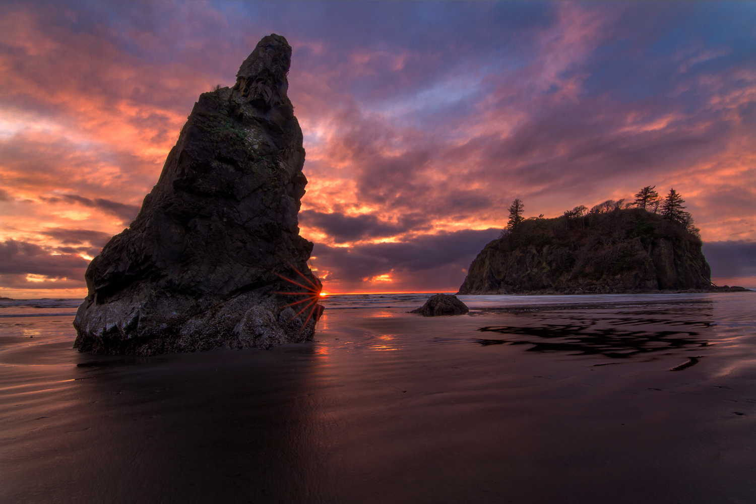 Sunset at Ruby Beach by Nick Souvall