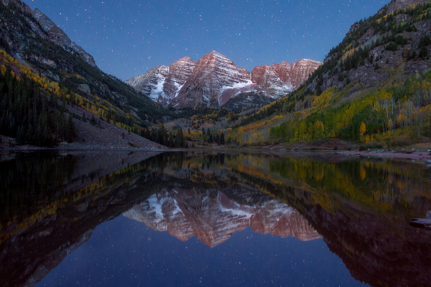 Maroon Bells Under the Stars by Nick Souvall