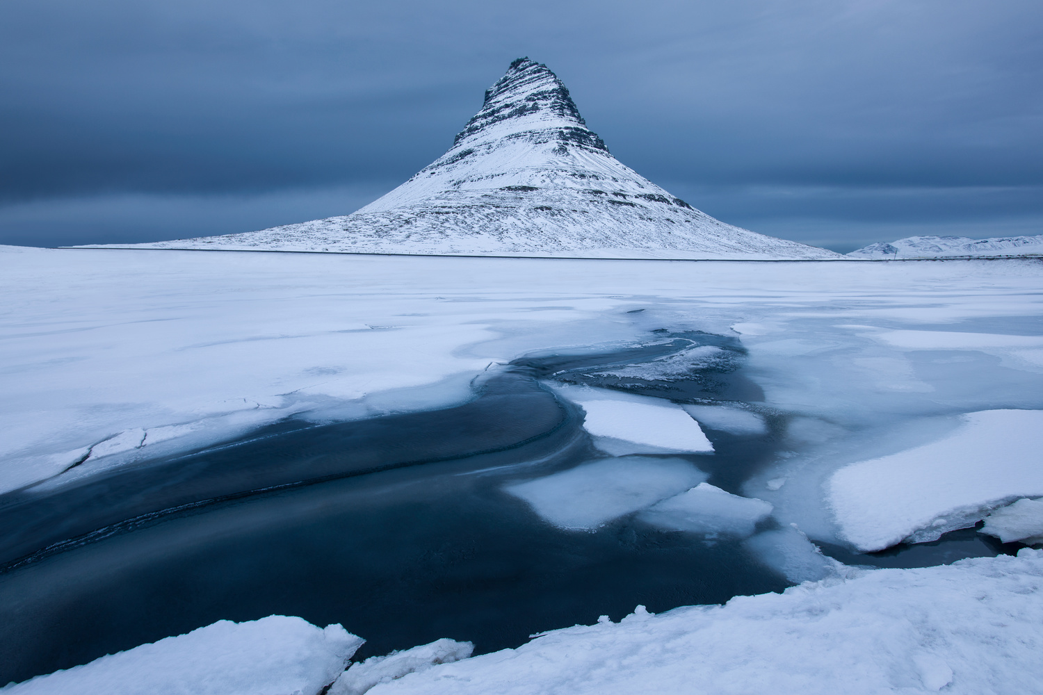 Iconic Iceland Mountain during Winter by Nick Souvall