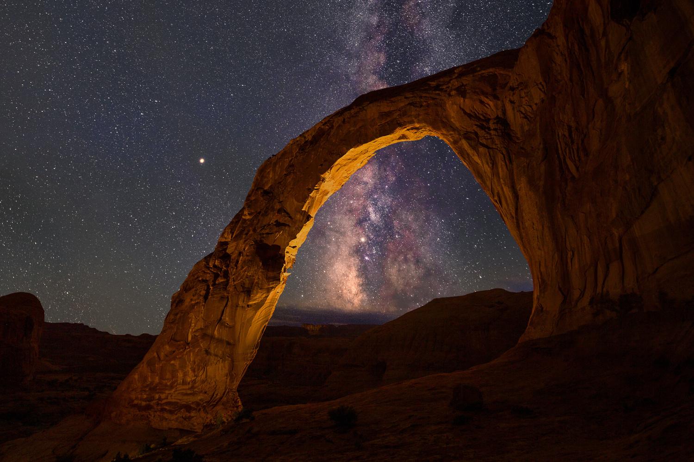 Milky Way through Corona Arch by Nick Souvall