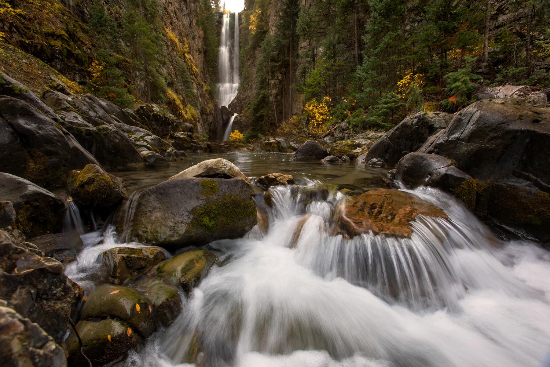 Beautiful Colorado Waterfall by Nick Souvall
