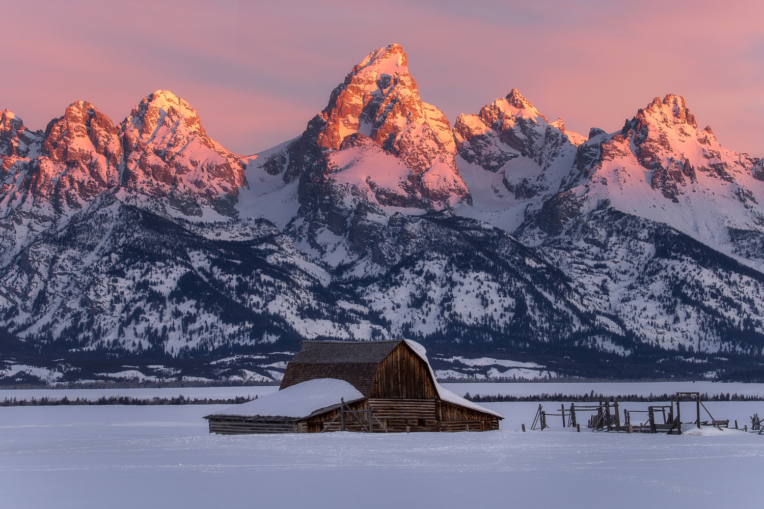 Grand Tetons in the Winter by Nick Souvall