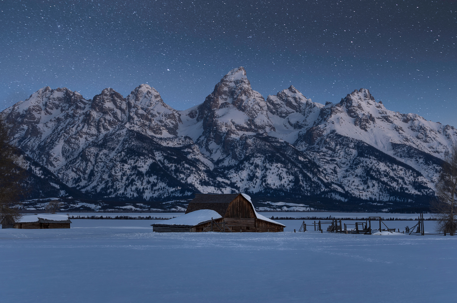 Tetons Under the Stars by Nick Souvall