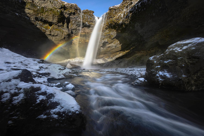 A Beautiful Icelandic Waterfall by Nick Souvall