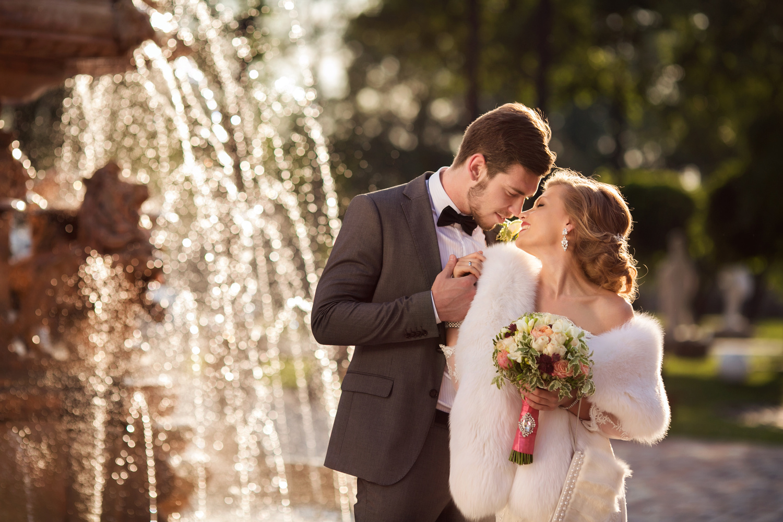 Romantic bride and groom by Isaeva Galina