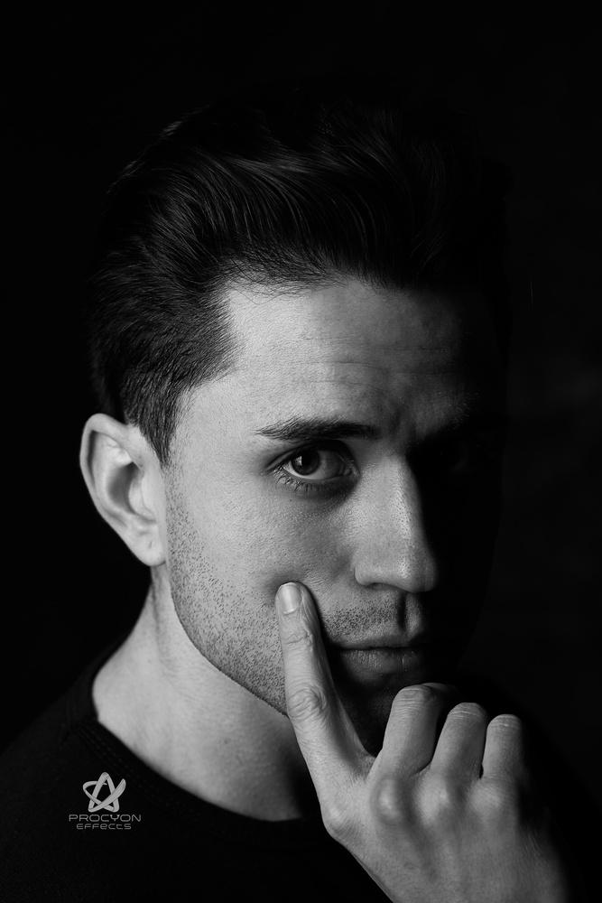 Actor Nicolas Stone dramatic portrait  by Paul Licorish