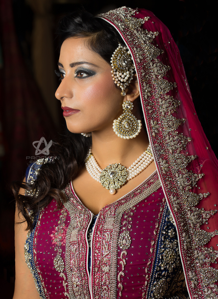 Asian Bridal Portrait by Paul Licorish