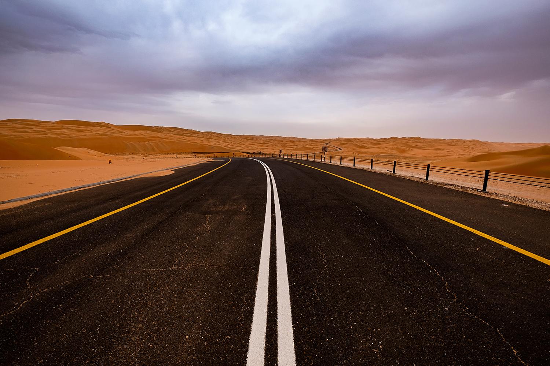 Road to Liwa Desert - The biggest dunes in the world by Asam Munir
