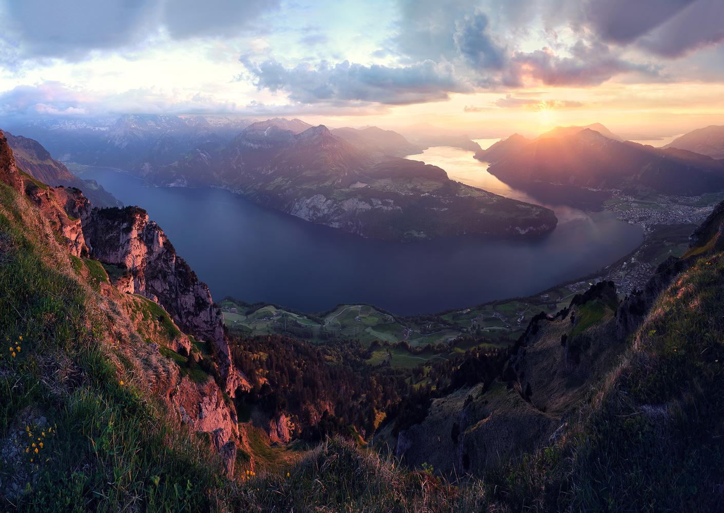 Fjord of switzerland by Lionel Fellay