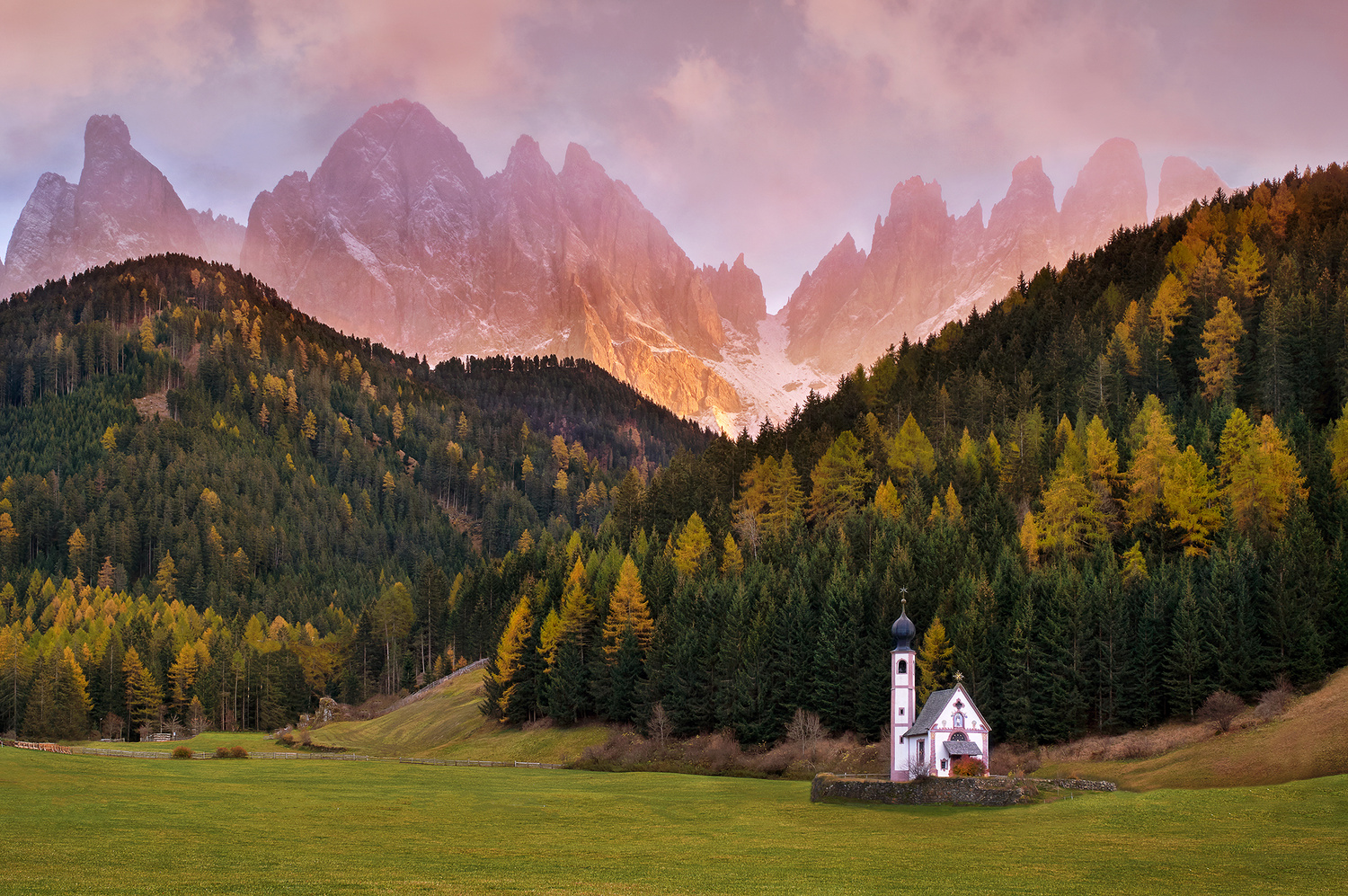 Dolomites sunset classic by Lionel Fellay