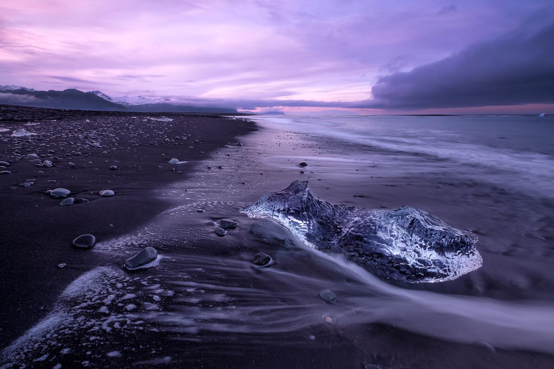 Icy beach by Lionel Fellay