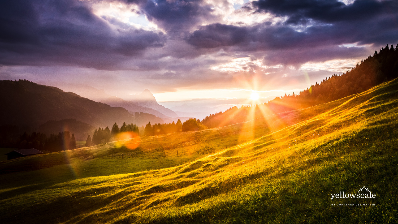 Bavarian Sunset by Jonathan Lee Martin