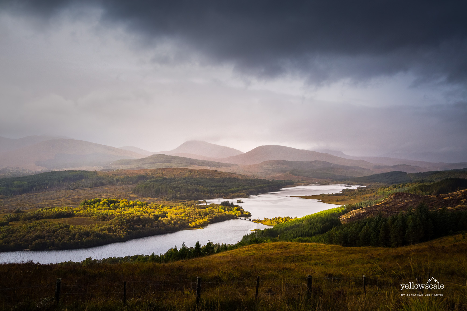 Loch Garry in the Scottish Highlands by Jonathan Lee Martin