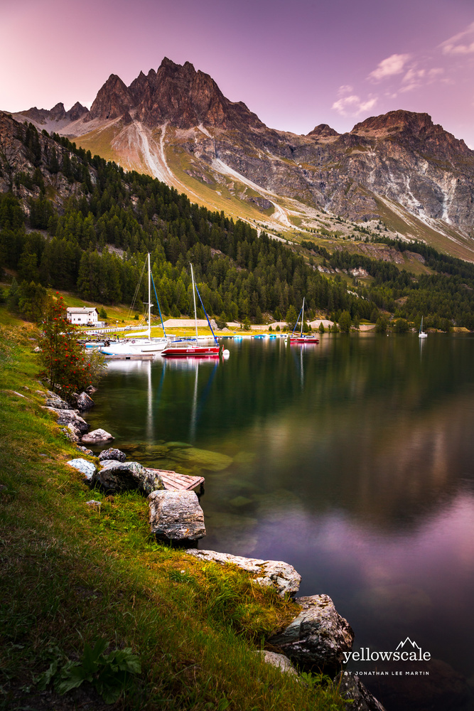 Boats on Silsersee by Jonathan Lee Martin