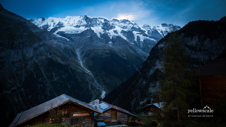 Jungfrau over Gimmelwald by Jonathan Lee Martin