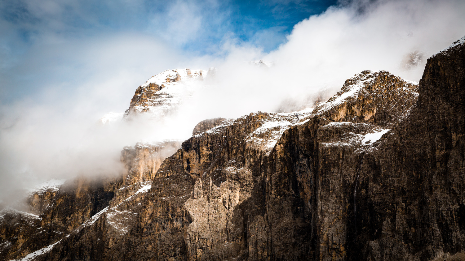 Clouds Rest on Sella Towers by Jonathan Lee Martin