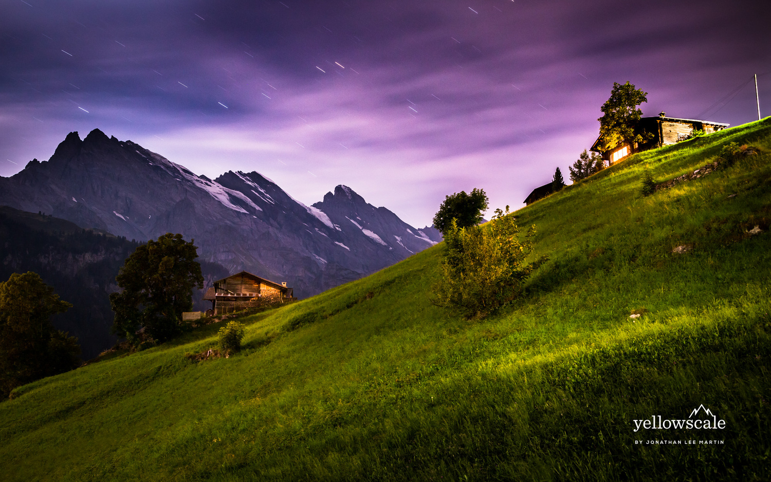 Star Trails above Gimmelwald by Jonathan Lee Martin