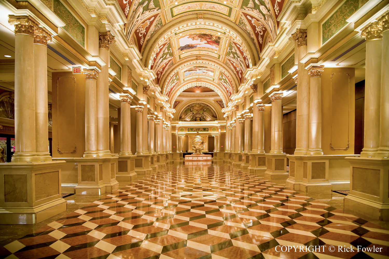 The Venetian Hotel Lobby by Rick Fowler