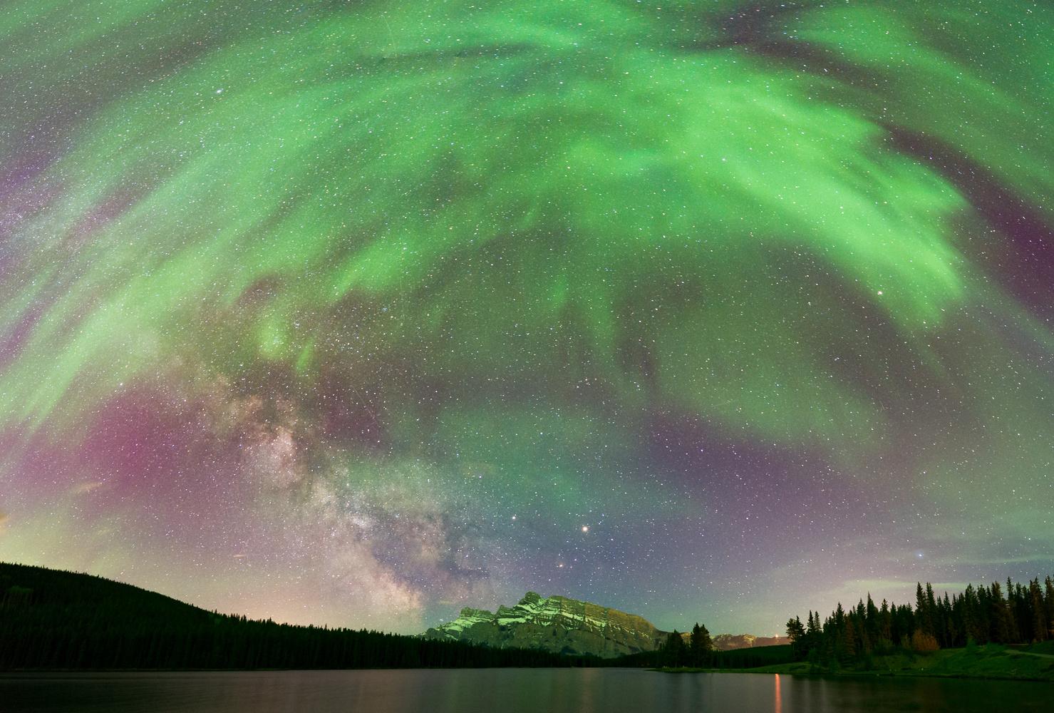 Corona and Milky Way by Monika Deviat