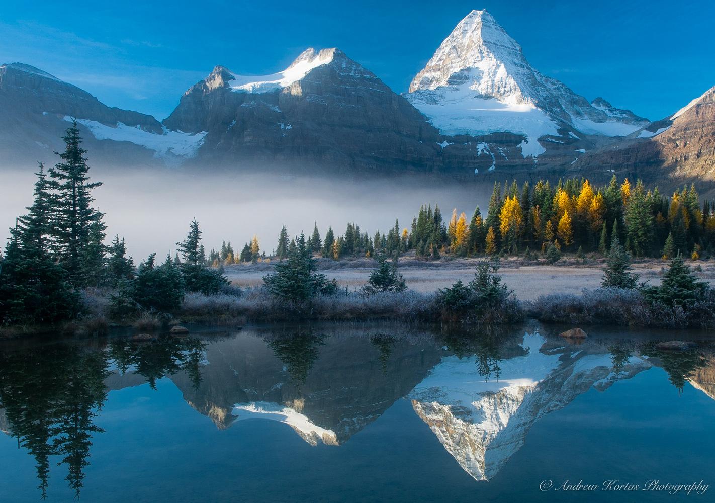 Fall Sunrise at Mt Assiniboine by Andrew Kortas