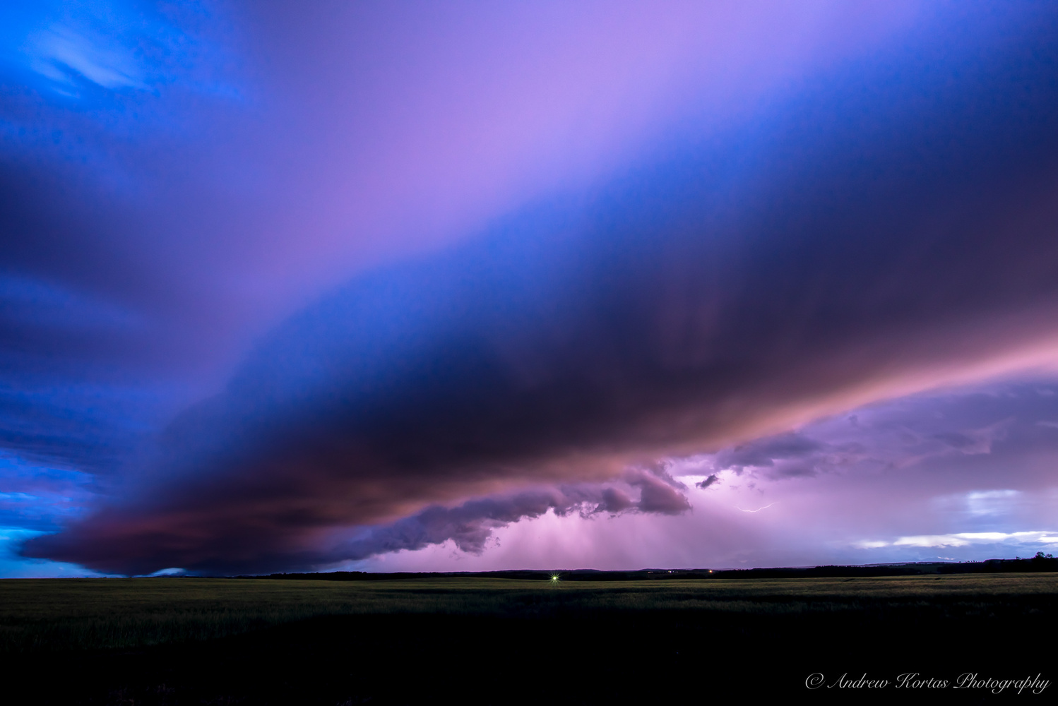 Sunset Storm Cell by Andrew Kortas