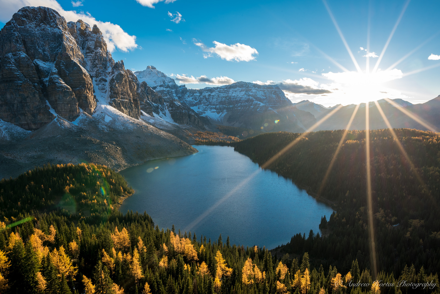Sunset Over Cerulean Lake by Andrew Kortas
