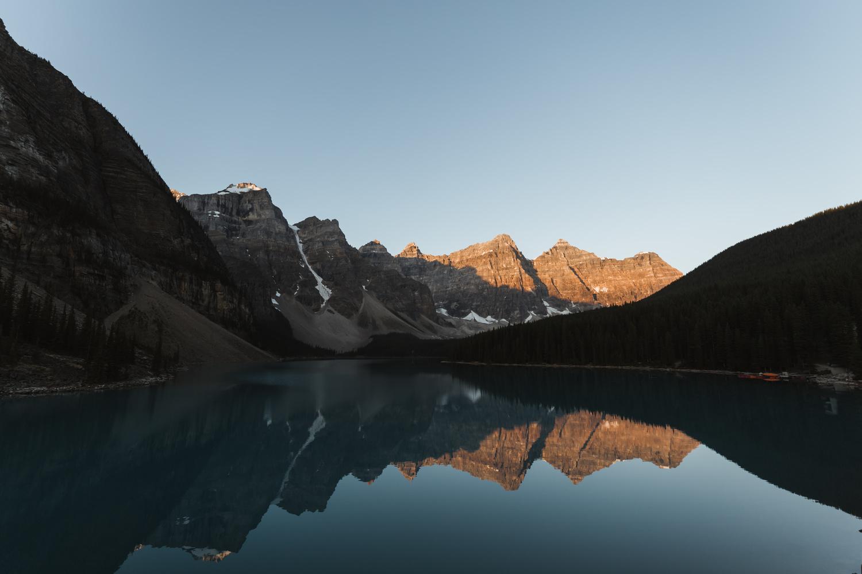 Sunrise at Moraine Lake by Eric Shiozaki