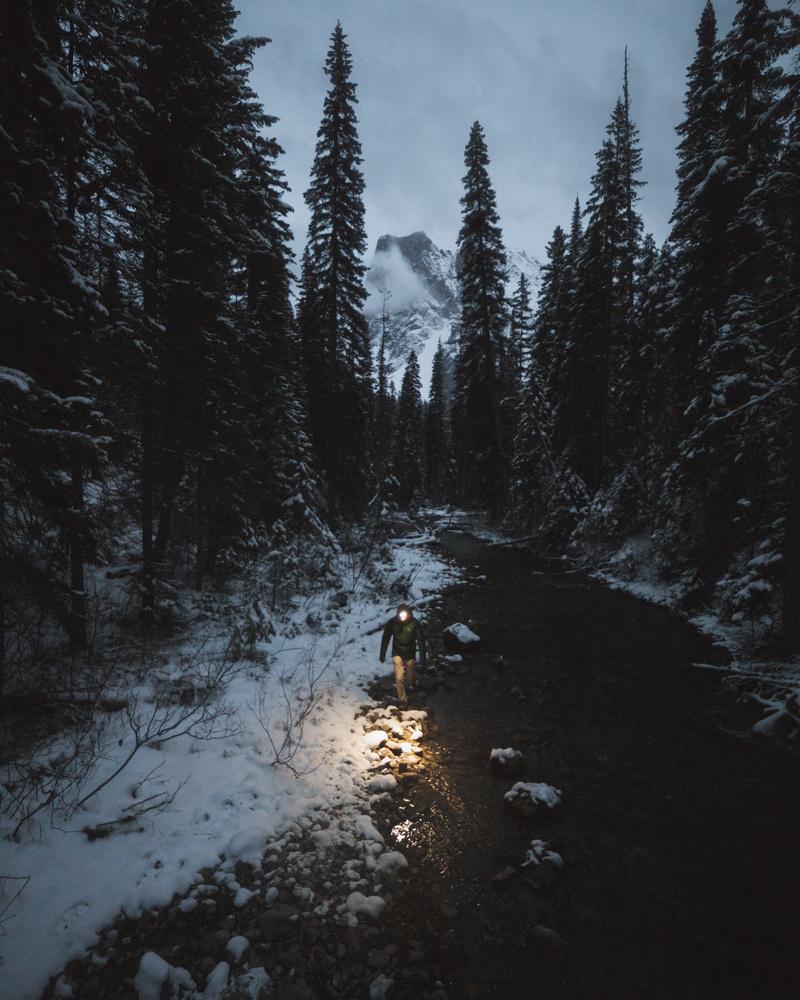 Night Hiking by Eric Shiozaki
