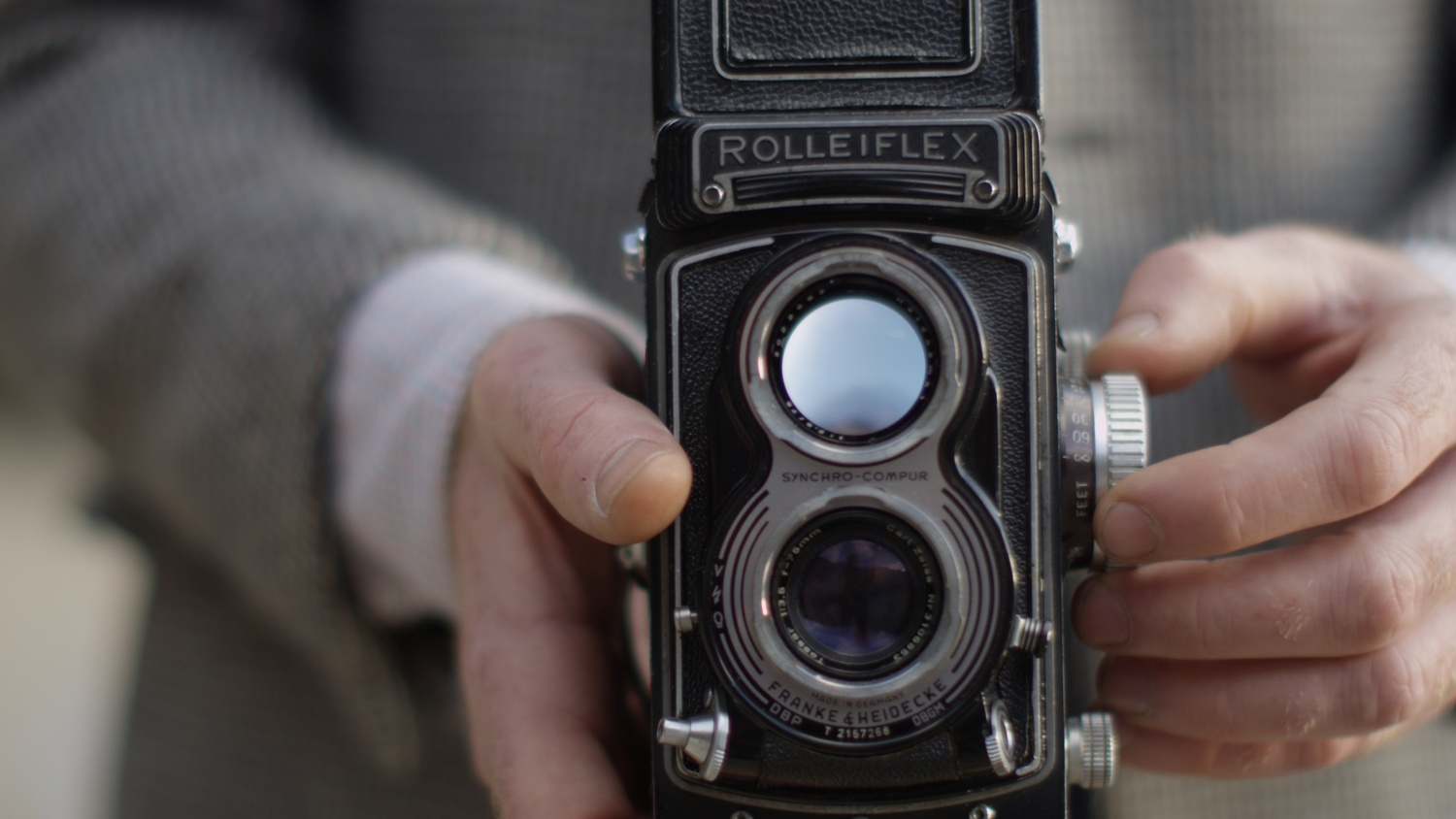 Rolleiflex in action by Mark Whatmore