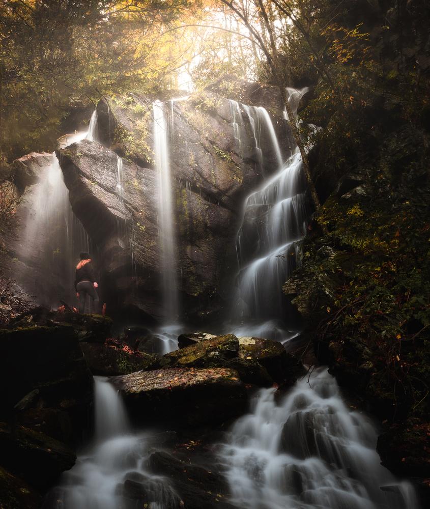 Secret Falls at Sunrise by Josh Tullock