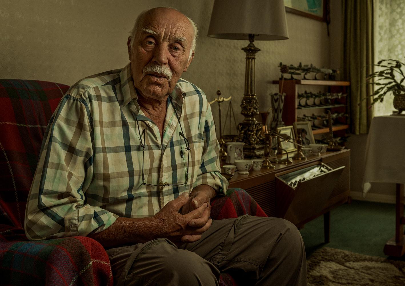 Portrait of Grandad Ken by Elisha Knight