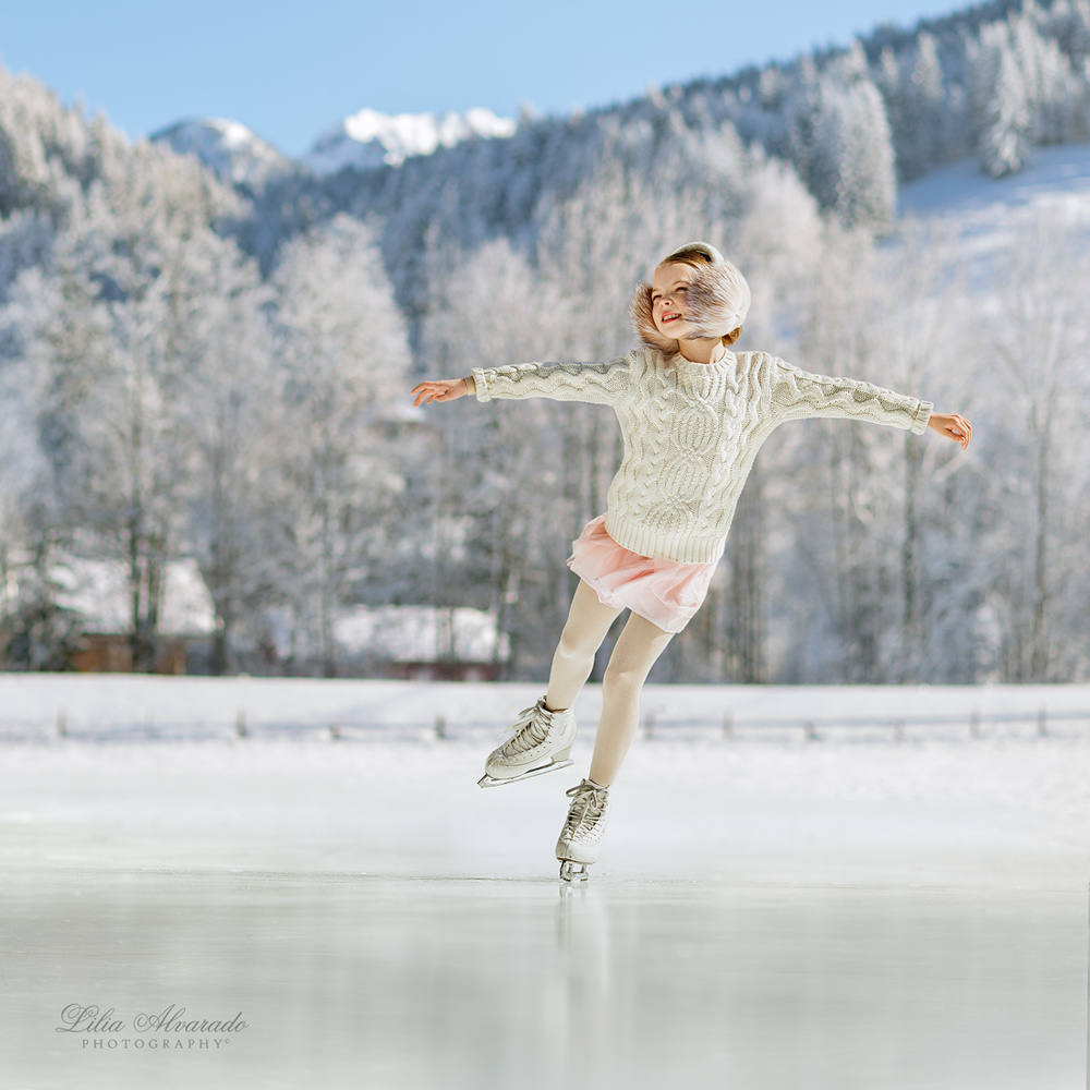 The sound of blades whisking the ice... by Lilia Alvarado