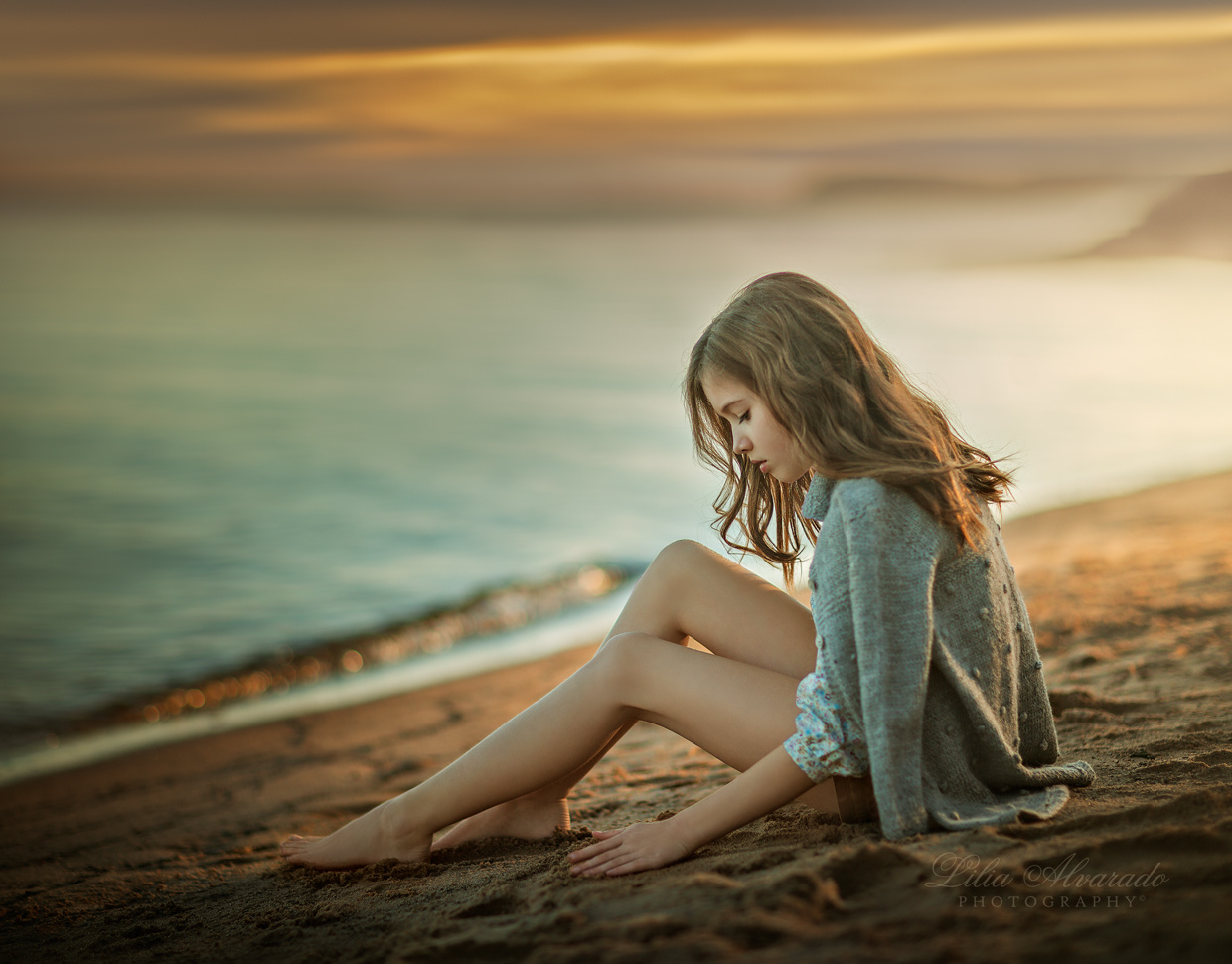 Alone with my thoughts... by Lilia Alvarado