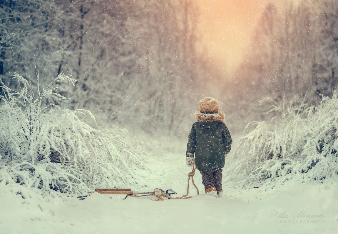 When it snows... by Lilia Alvarado