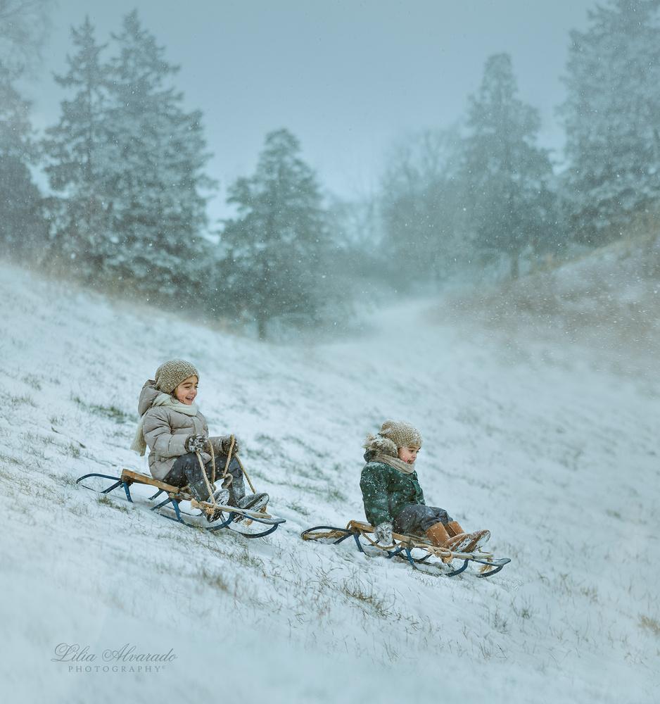 Snow storm coming by Lilia Alvarado