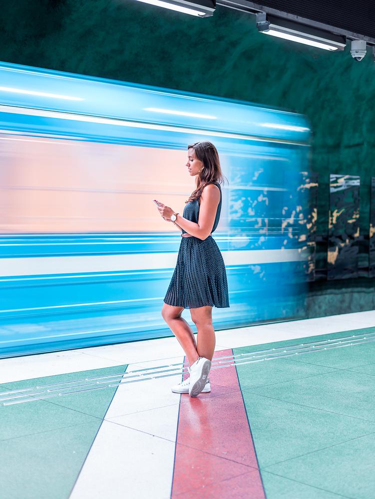 Subway blur by Nurlan Emir