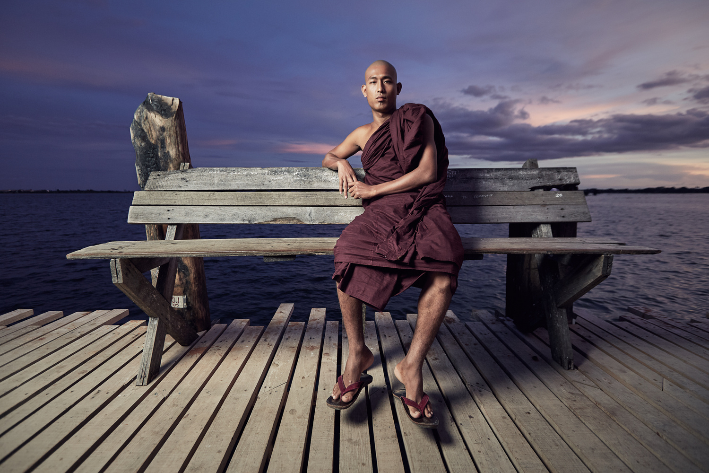 Novice Monk. by Denis Hedone